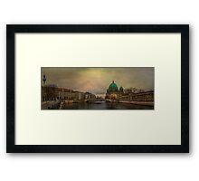 Berliner Dom Panorama Framed Print