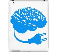 power plug connector think brain electronically clever electro funny cyborg iPad Case/Skin