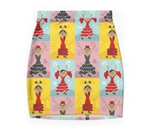 Flamenco Dancers Mini Skirt