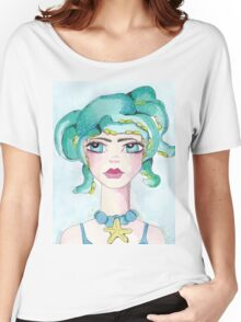 Girl and her octopus Women's Relaxed Fit T-Shirt