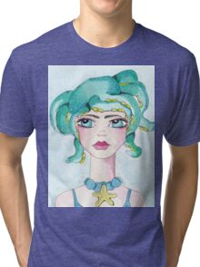 Girl and her octopus Tri-blend T-Shirt
