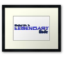 Legendary Gamer Framed Print