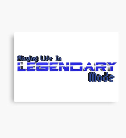 Legendary Gamer Canvas Print