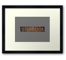 Wastelander (Rust) Framed Print
