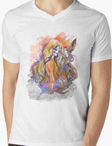hummingbird girl Mens V-Neck T-Shirt