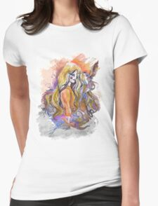 hummingbird girl Womens Fitted T-Shirt