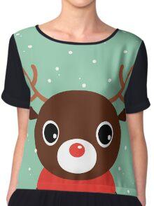 Beautiful cute Xmas Deer - perfect Gift Chiffon Top