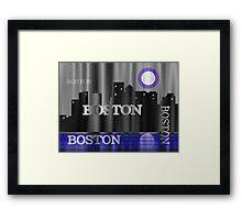 Boston Skyline Framed Print