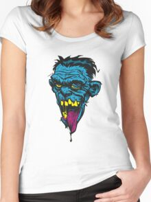 retarded zombie head Women's Fitted Scoop T-Shirt