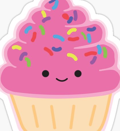 Strawberry Cupcake Sticker