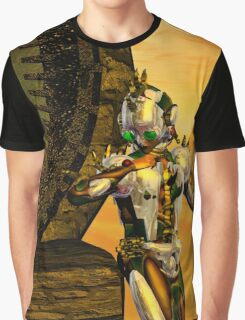 CYBORG TITAN IN THE DESERT OF HYPERION Sci-Fi Movie Graphic T-Shirt