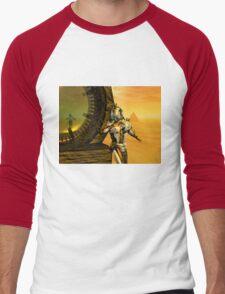 CYBORG TITAN IN THE DESERT OF HYPERION Sci-Fi Movie Men's Baseball ¾ T-Shirt