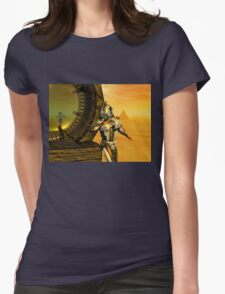CYBORG TITAN IN THE DESERT OF HYPERION Sci-Fi Movie Womens Fitted T-Shirt