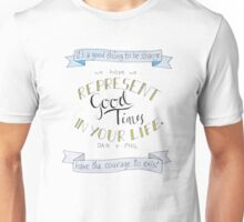 Dan and Phil Inspirational Quotes Unisex T-Shirt