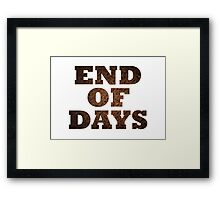End Of Days (Rust) Framed Print