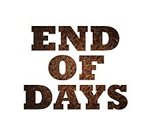 End Of Days (Rust) Photographic Print