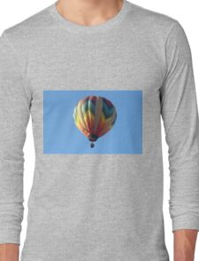 Hot air balloon floating in the air.  Long Sleeve T-Shirt