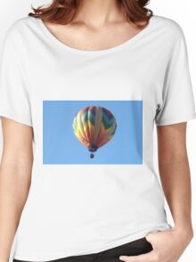 Hot air balloon floating in the air.  Women's Relaxed Fit T-Shirt