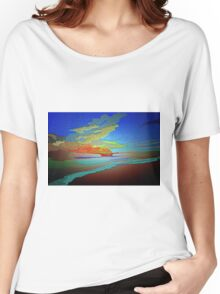 Abstract Art seascape and Sky Women's Relaxed Fit T-Shirt