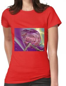 ALIEN NEREIDE,NYMPH OF WATER ,PINK SEASHELL Sci-Fi Womens Fitted T-Shirt
