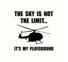 Sky Playground Helicopter Art Print