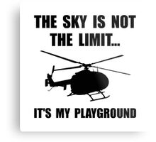 Sky Playground Helicopter Metal Print