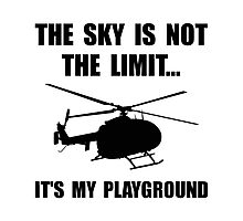 Sky Playground Helicopter Photographic Print