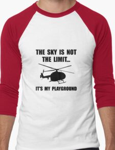 Sky Playground Helicopter Men's Baseball ¾ T-Shirt