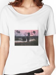 Elephant At Dusk Women's Relaxed Fit T-Shirt