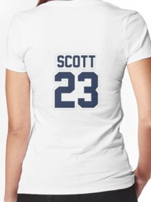 Nathan Scott Jersey Number Women's Fitted V-Neck T-Shirt