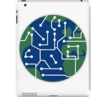 earth technology networked data information electronically future technology future planet iPad Case/Skin