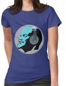 Lenin with Headphones Womens Fitted T-Shirt
