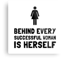 Successful Woman Metal Print