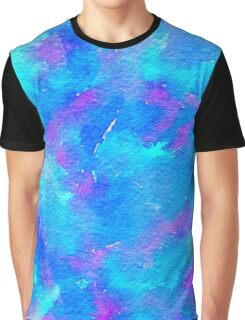 POP Watercolor in Blue Graphic T-Shirt