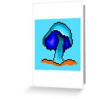 Trippy Mushroom Pixel Art Greeting Card