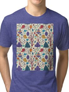 Plant Pattern Color  Tri-blend T-Shirt