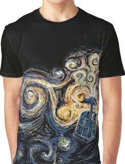 Doctor Who- Van Gogh Tardis Graphic T-Shirt