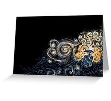 Doctor Who- Van Gogh Tardis Greeting Card