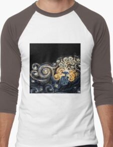 Doctor Who- Van Gogh Tardis Men's Baseball ¾ T-Shirt