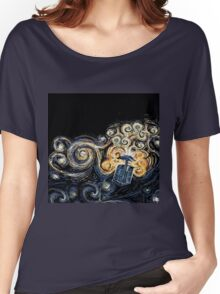 Doctor Who- Van Gogh Tardis Women's Relaxed Fit T-Shirt