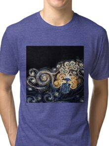 Doctor Who- Van Gogh Tardis Tri-blend T-Shirt