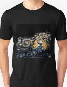 Doctor Who- Van Gogh Tardis Unisex T-Shirt