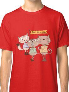 Cute Cartoon Animals Funny Cats Meow Club Classic T-Shirt