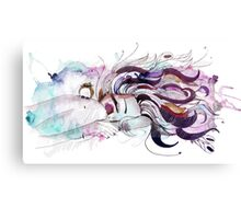 crazy hair Canvas Print