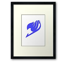 Fairy Tail Logo (Blue) Framed Print