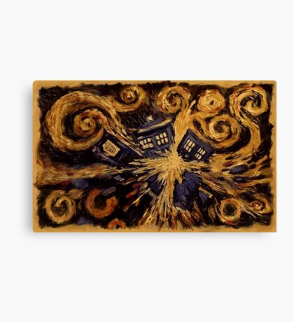 Doctor Who- Van Gogh Exploding Tardis Canvas Print