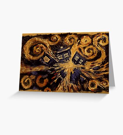 Doctor Who- Van Gogh Exploding Tardis Greeting Card