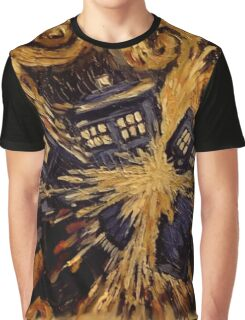 Doctor Who- Van Gogh Exploding Tardis Graphic T-Shirt