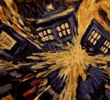 Doctor Who- Van Gogh Exploding Tardis Sticker
