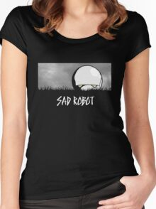 Sad Robot Women's Fitted Scoop T-Shirt